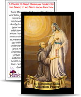 "A Prayer to Saint Maximilian Kolbe for the Grace to be Freed from Addiction- Holy Card / 2 1/4""x 3 1/2"" (b)"