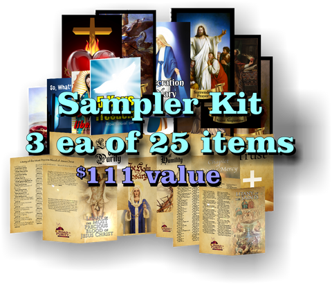 Priest Sampler Kit - 3 each of 25 items (75 total pieces) $111 value