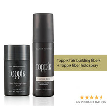Load image into Gallery viewer, Toppik hair building fibers +Free Toppik fiber hold spray