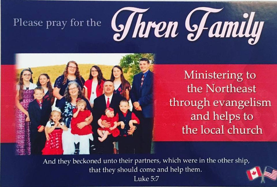 THREN FAMILY PRAYER LETTER- MARK THREN FAMILY