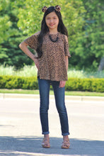 Load image into Gallery viewer, Girls Cold Shoulder Leopard Knit Top