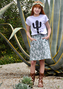 Cactus Pretty Prickly - A Line Skirt
