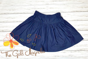 Girls Denim Twirl Skirt