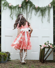 Load image into Gallery viewer, Girls Coral Floral Knit Dress