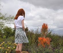 Load image into Gallery viewer, Cactus Pretty Prickly - A Line Skirt