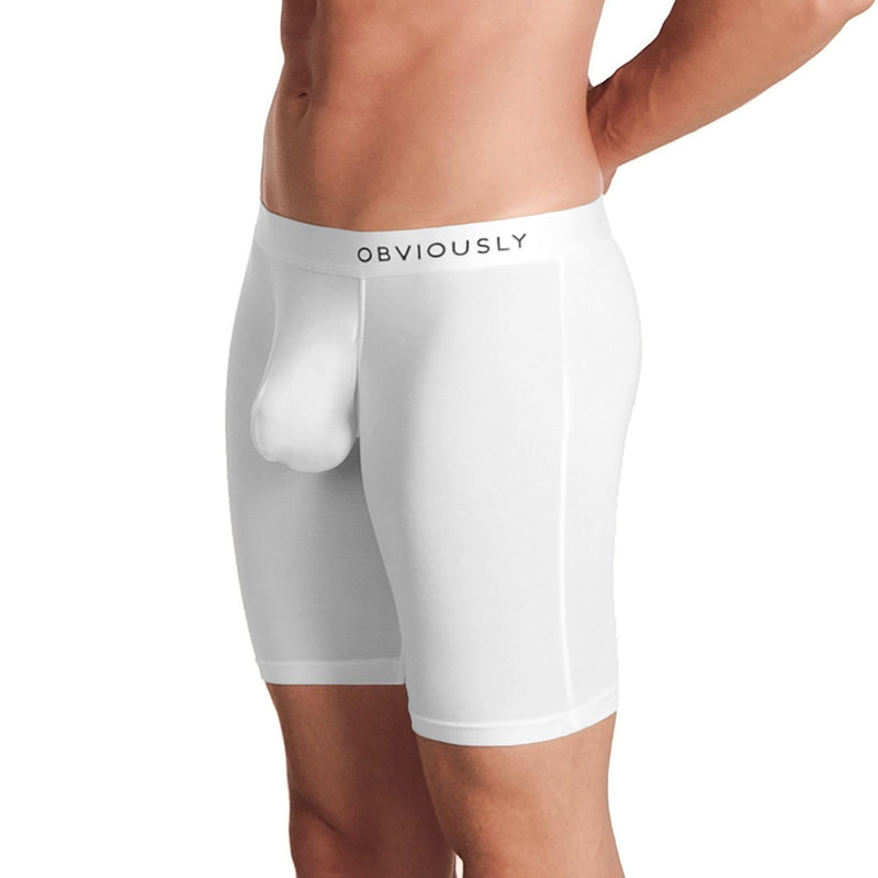 PrimeMan - Boxer Brief 9 inch Leg Obviously Apparel White Small