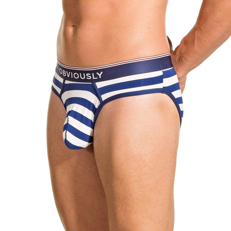 PrimeMan - Hipster Brief Obviously Apparel Navy/White Small