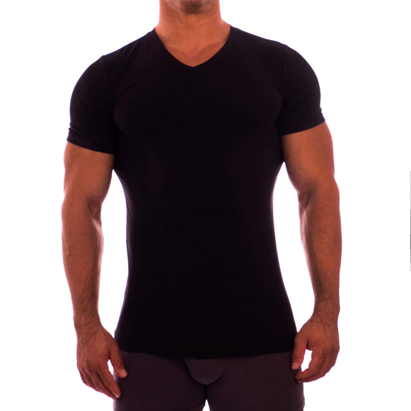 V Neck Short Sleeve Undershirt Obviously Apparel