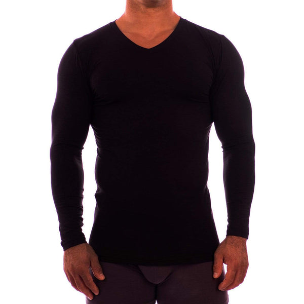 V Neck Long Sleeve Undershirt Obviously Apparel