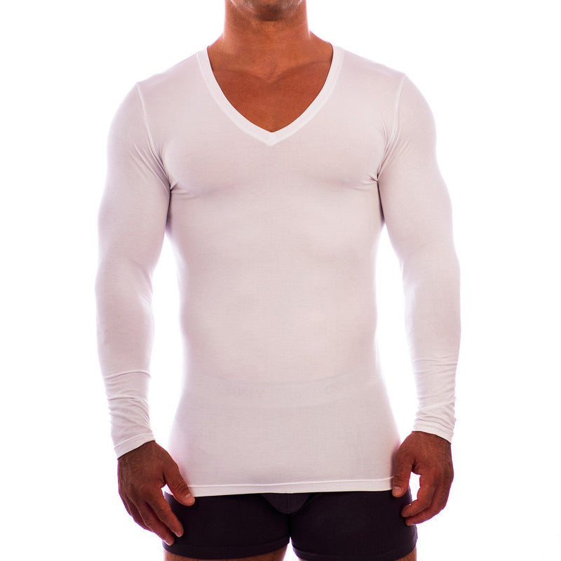 Deep V Neck Long Sleeve Undershirt Obviously Apparel