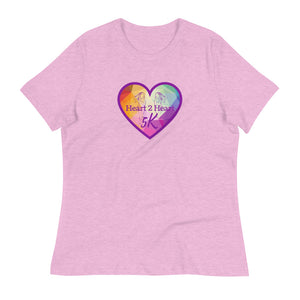 heather prism lilac relaxed fit t shirt with purple heart