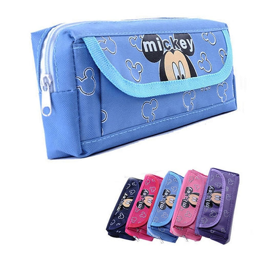 School Pencil Case Cartoon Minnie Mickey Large Pencil Bag Supplies Stationery Girl Kidskawaii  Pencil Bag Box Writing Supplies