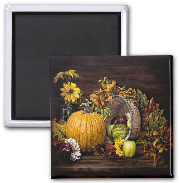 A Touch Of Autumn - Square Magnet