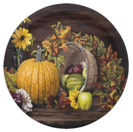 A Touch Of Autumn - Paper Plate Set