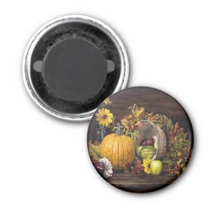 A Touch Of Autumn - Round Magnet