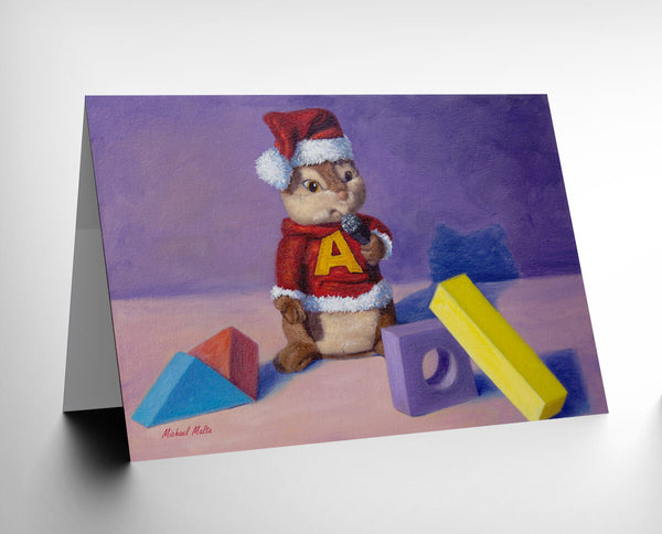 Alvin's Christmas Wish - Greeting Card