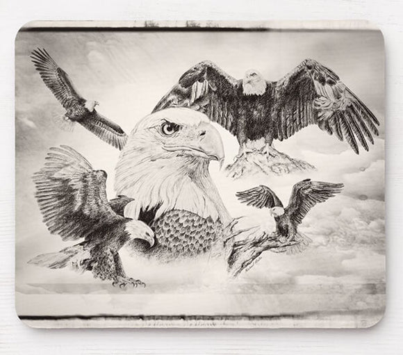 Eagle Montage - Mouse Pad
