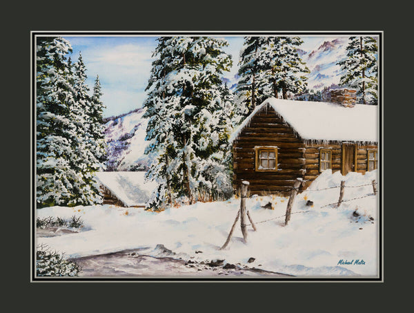 Snowy Retreat Matted Prints