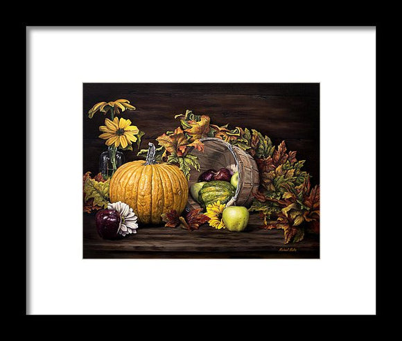 A Touch Of Autumn - Framed Print