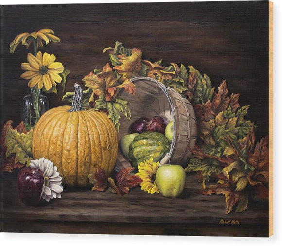 A Touch Of Autumn - Wood Print