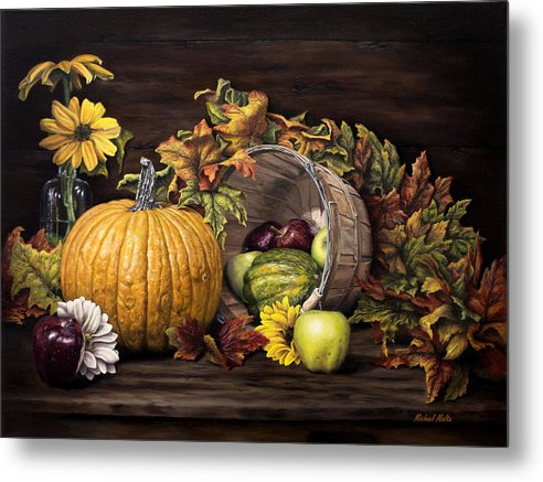 A Touch Of Autumn - Metal Print