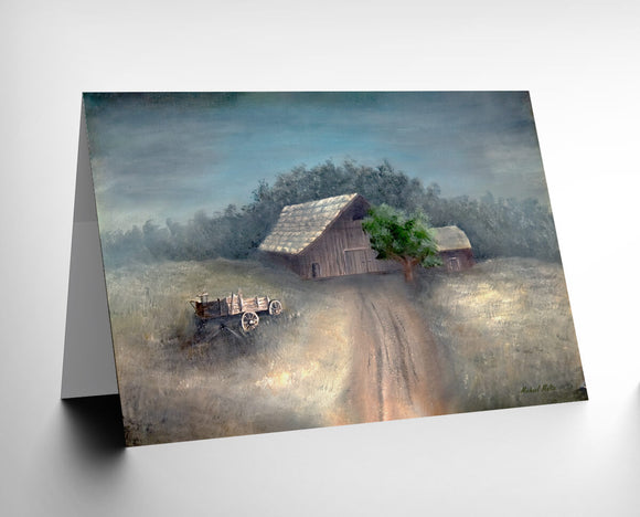 A Country Barn - Greeting Card