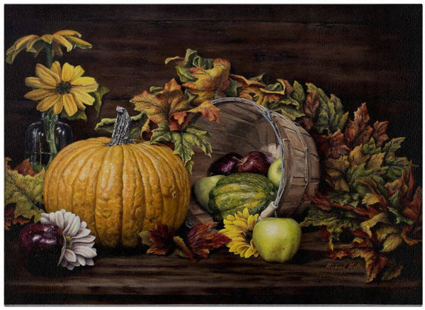 A Touch Of Autumn - Glass Cutting Board