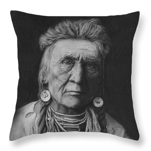 Crow Warrior - Throw Pillow