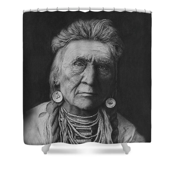 Crow Warrior - Shower Curtain