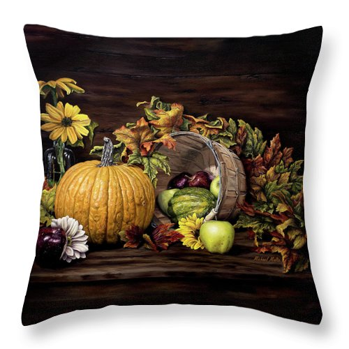 A Touch Of Autumn - Throw Pillow