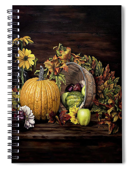 A Touch Of Autumn - Spiral Notebook