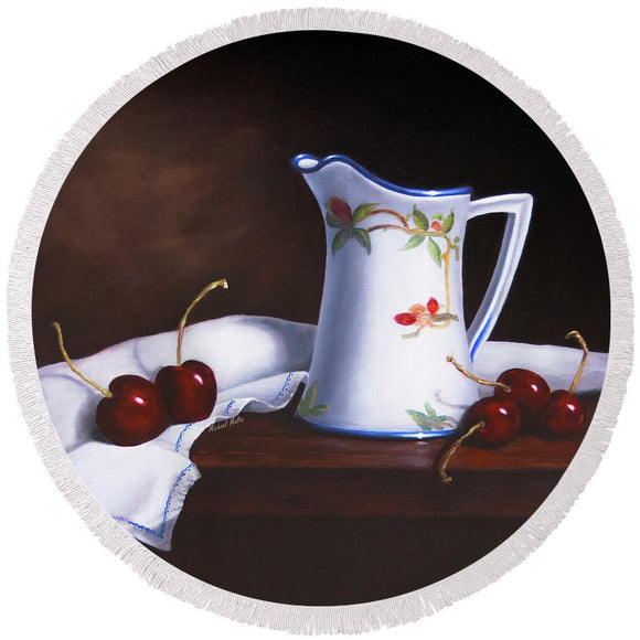 Simply Cherries - Round Beach Towel