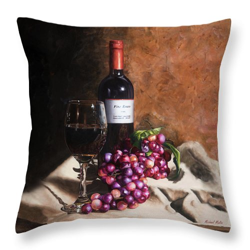 Vino Rosso - Throw Pillow