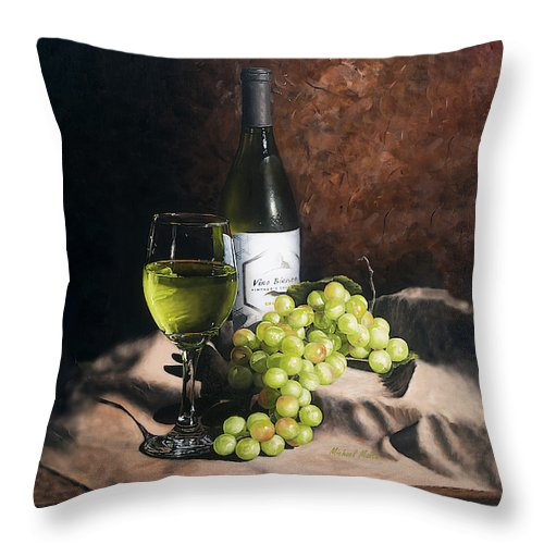Vino Bianco - Throw Pillow