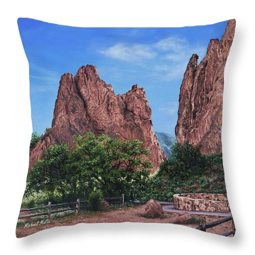 North & South Gateway Rocks - Throw Pillow