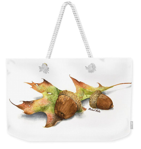 Autumn Oak And Acorns - Weekender Tote Bag
