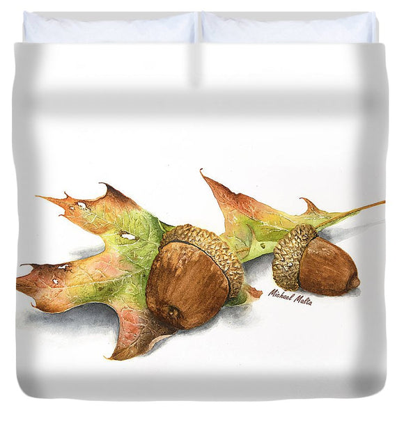 Autumn Oak And Acorns - Duvet Cover