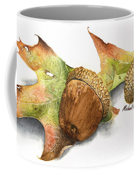 Autumn Oak And Acorns - Mug