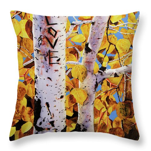 Quaking Aspens - Throw Pillow