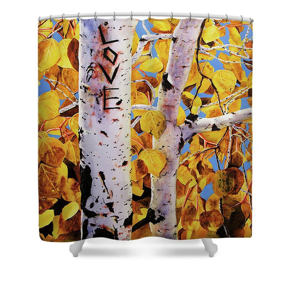 Quaking Aspens - Shower Curtain