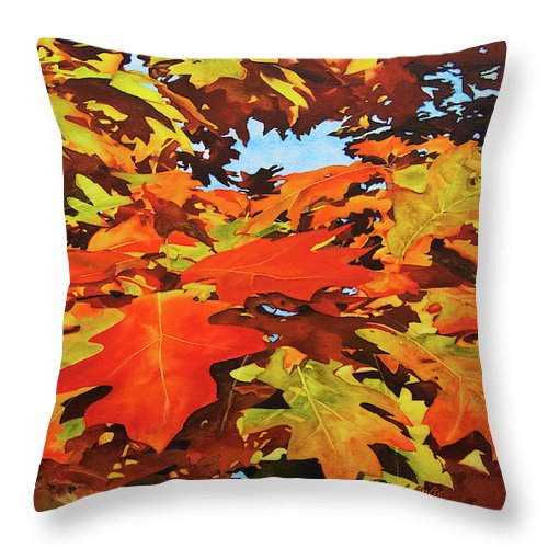 Burst Of Autumn - Throw Pillow