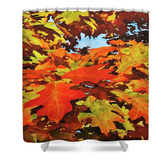 Burst Of Autumn - Shower Curtain