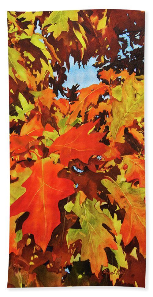 Burst Of Autumn - Beach Towel