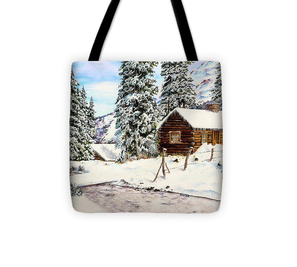 Snowy Retreat - Tote Bag