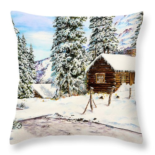 Snowy Retreat - Throw Pillow