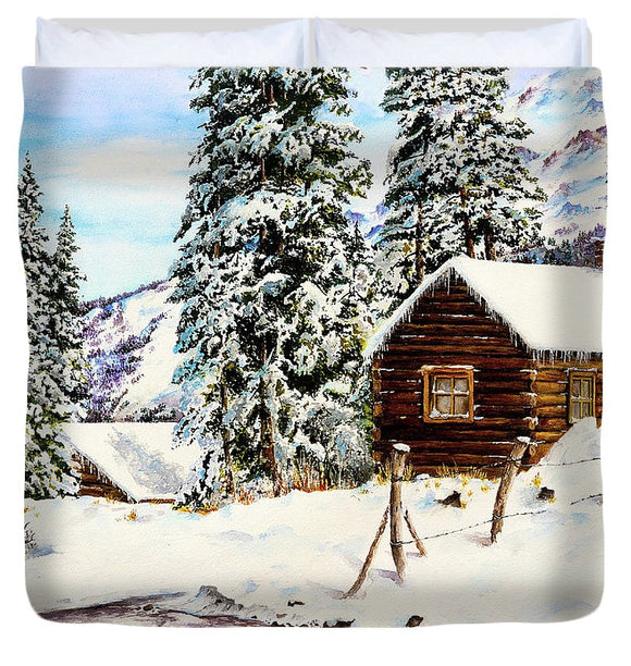 Snowy Retreat - Duvet Cover