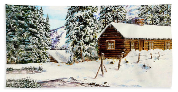 Snowy Retreat - Bath Towel