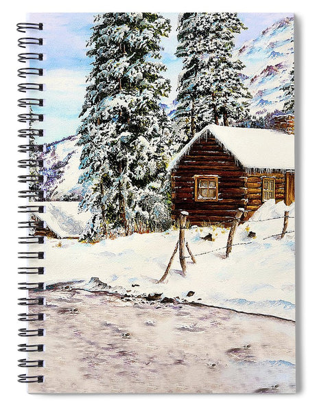 Snowy Retreat - Spiral Notebook