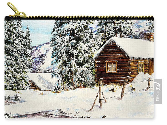 Snowy Retreat - Carry-All Pouch