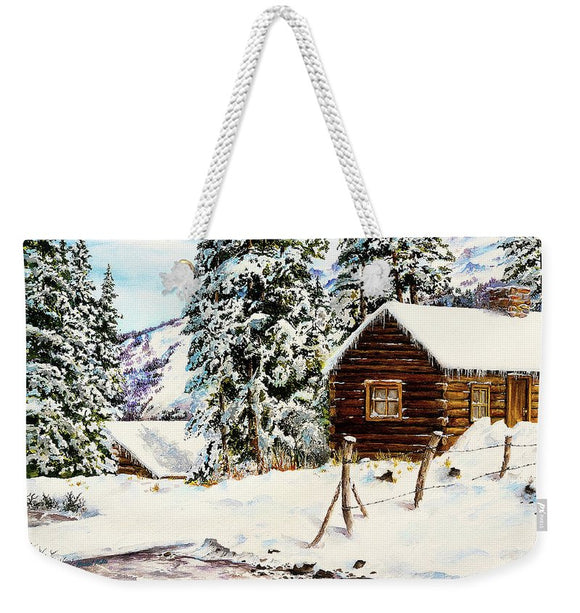 Snowy Retreat - Weekender Tote Bag